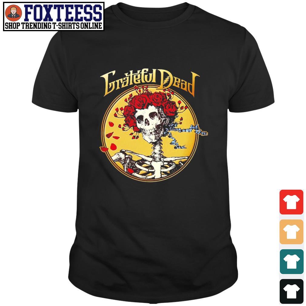 Grateful dead skull rose shirt