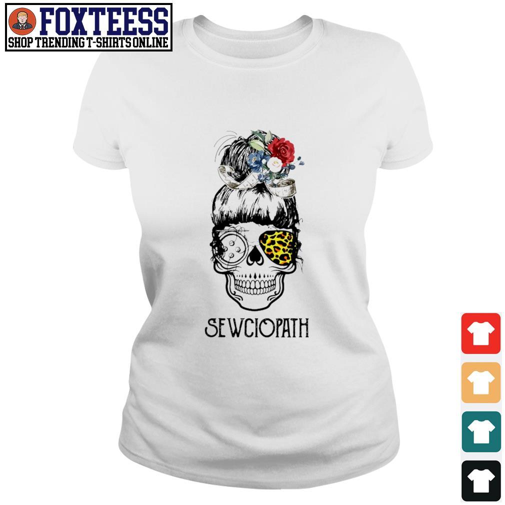 Skull girl leopard sewciopath s ladies-tee