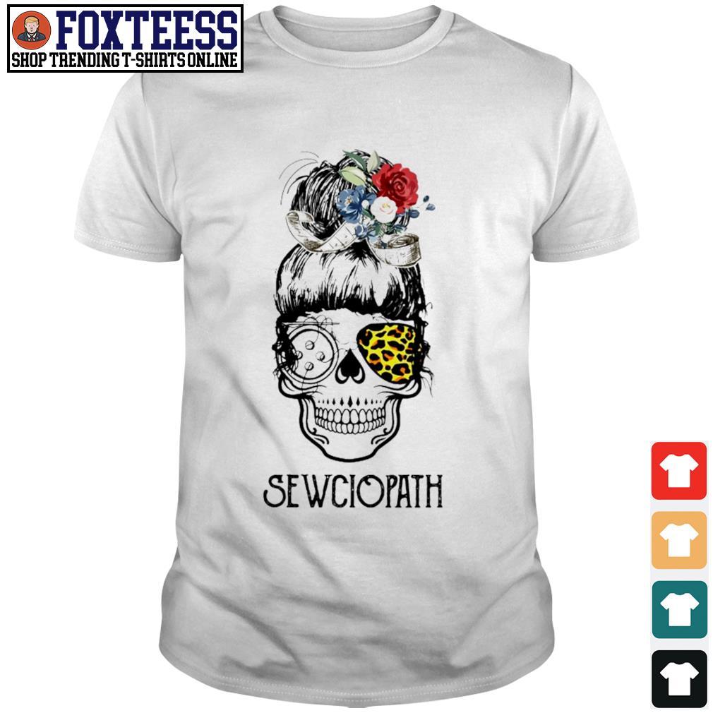 Skull girl leopard sewciopath shirt