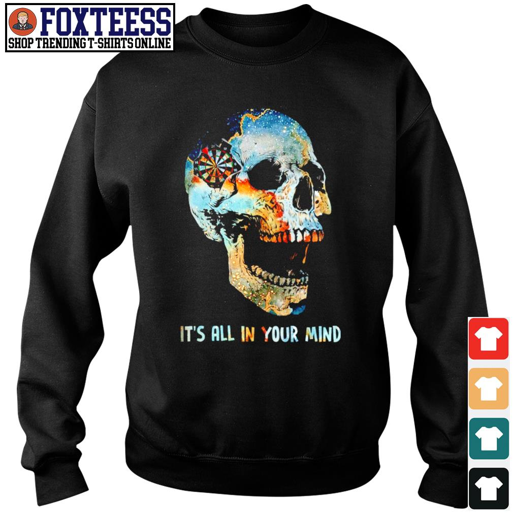 Skull it's all in your mind s sweater