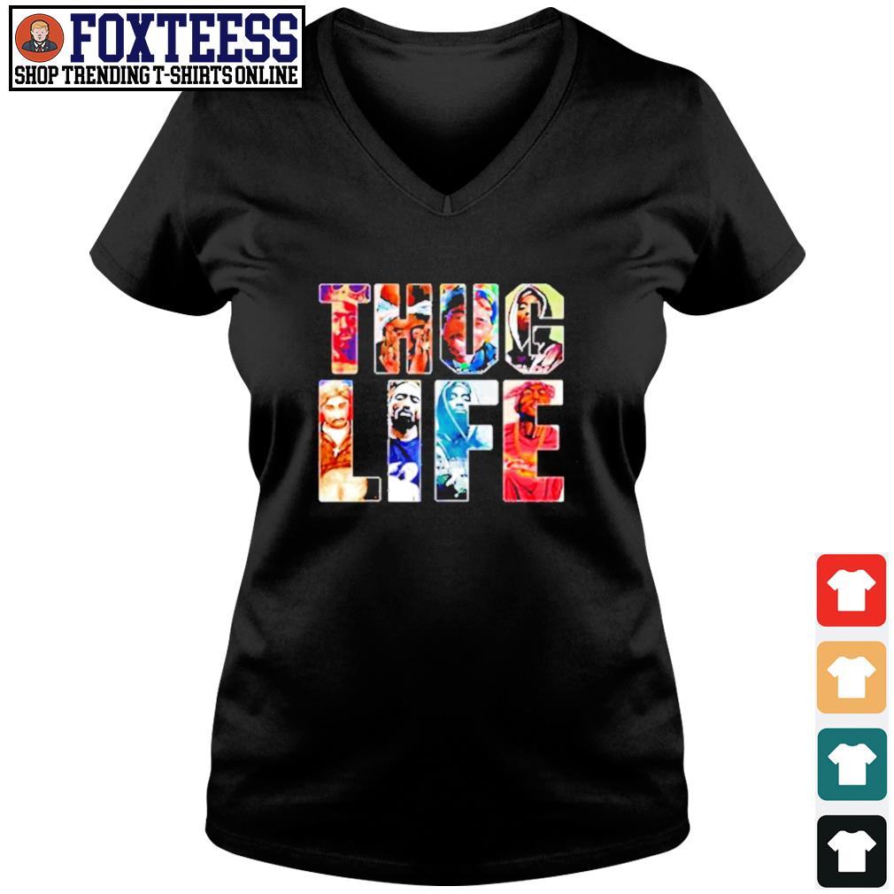 Thug Life Band v-neck t-shirt