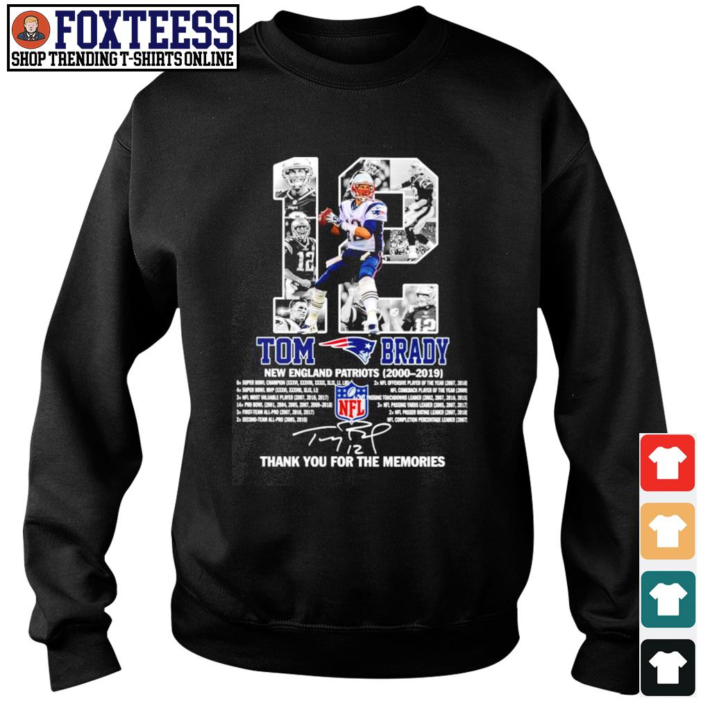 Tom brady 12 new england patriots 2000 2019 thank you for the memories s sweater