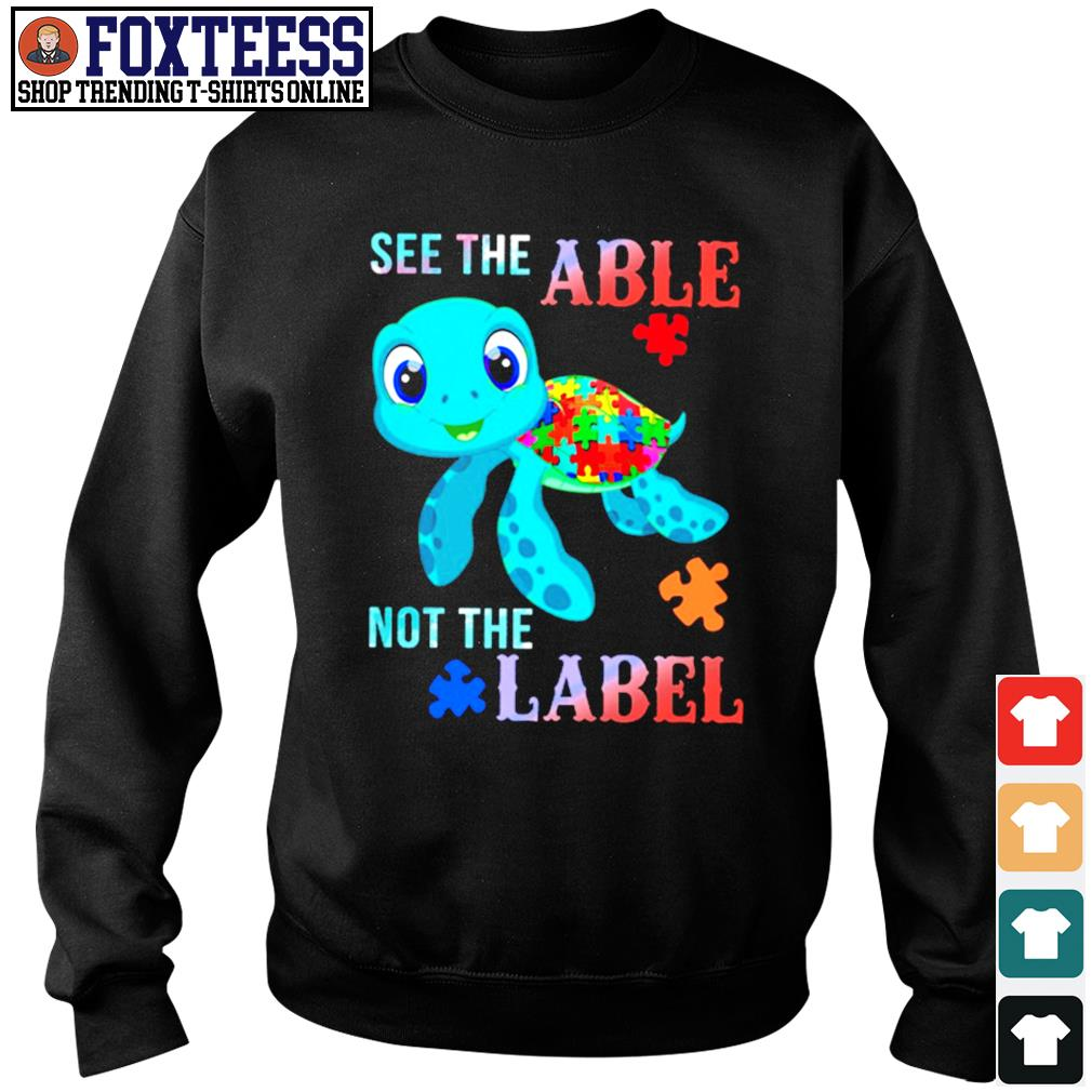 Turtle see the able not the label autism s sweater