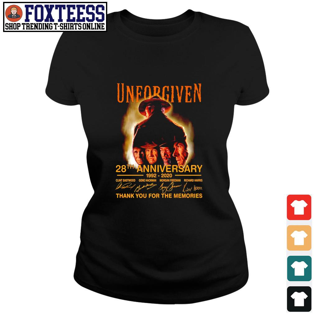 Unforgiven 28th anniversary 1992 2020 thank you for the memories s ladies-tee