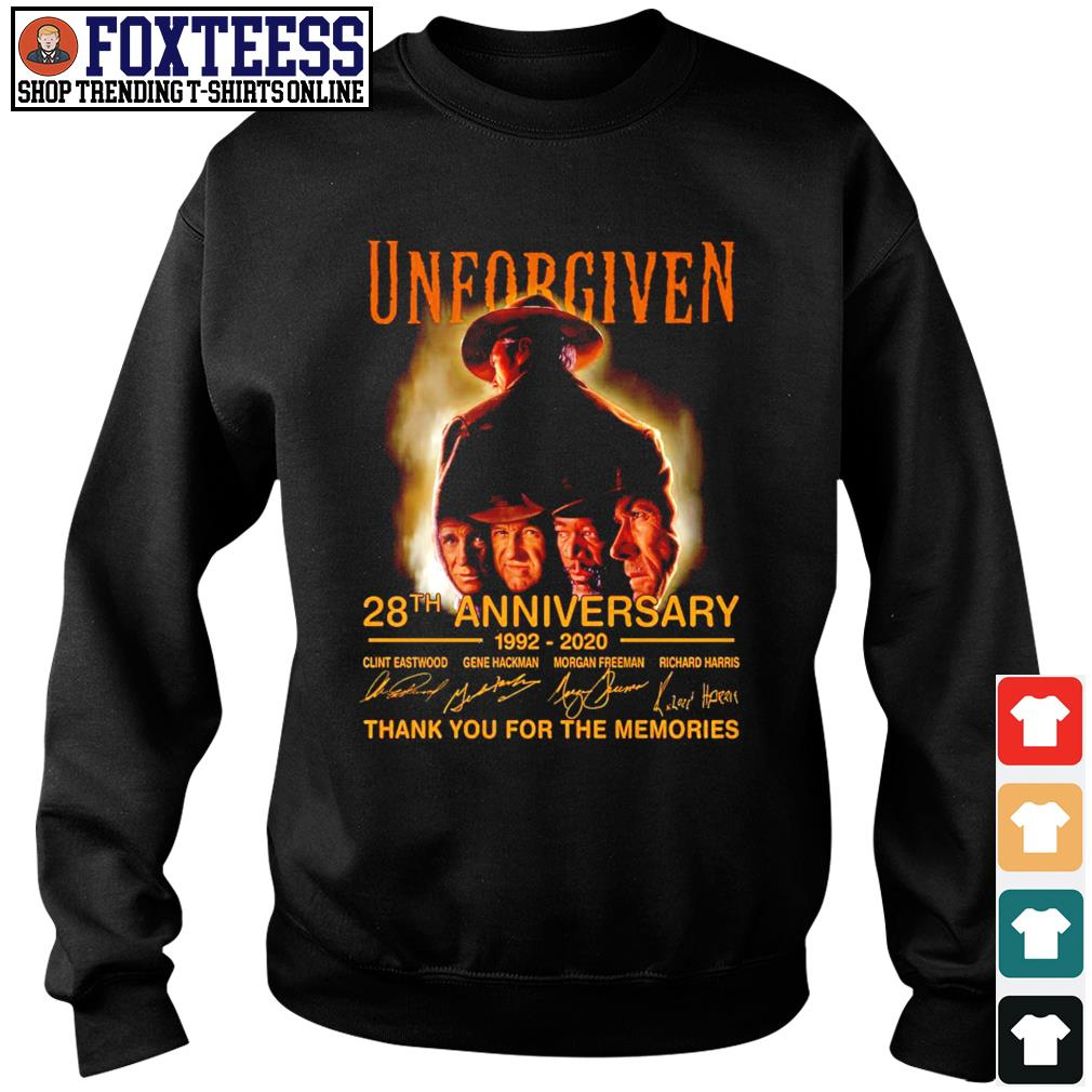 Unforgiven 28th anniversary 1992 2020 thank you for the memories s sweater