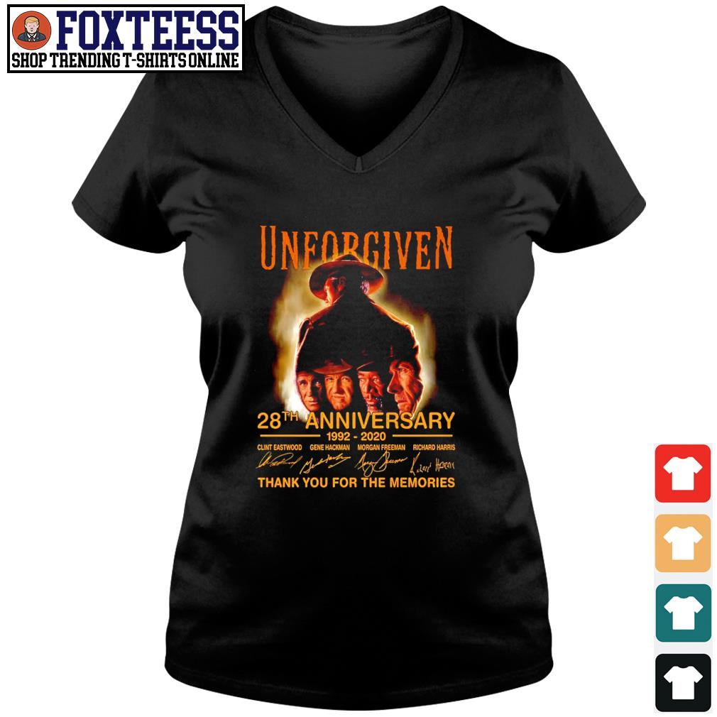 Unforgiven 28th anniversary 1992 2020 thank you for the memories s v-neck t-shirt