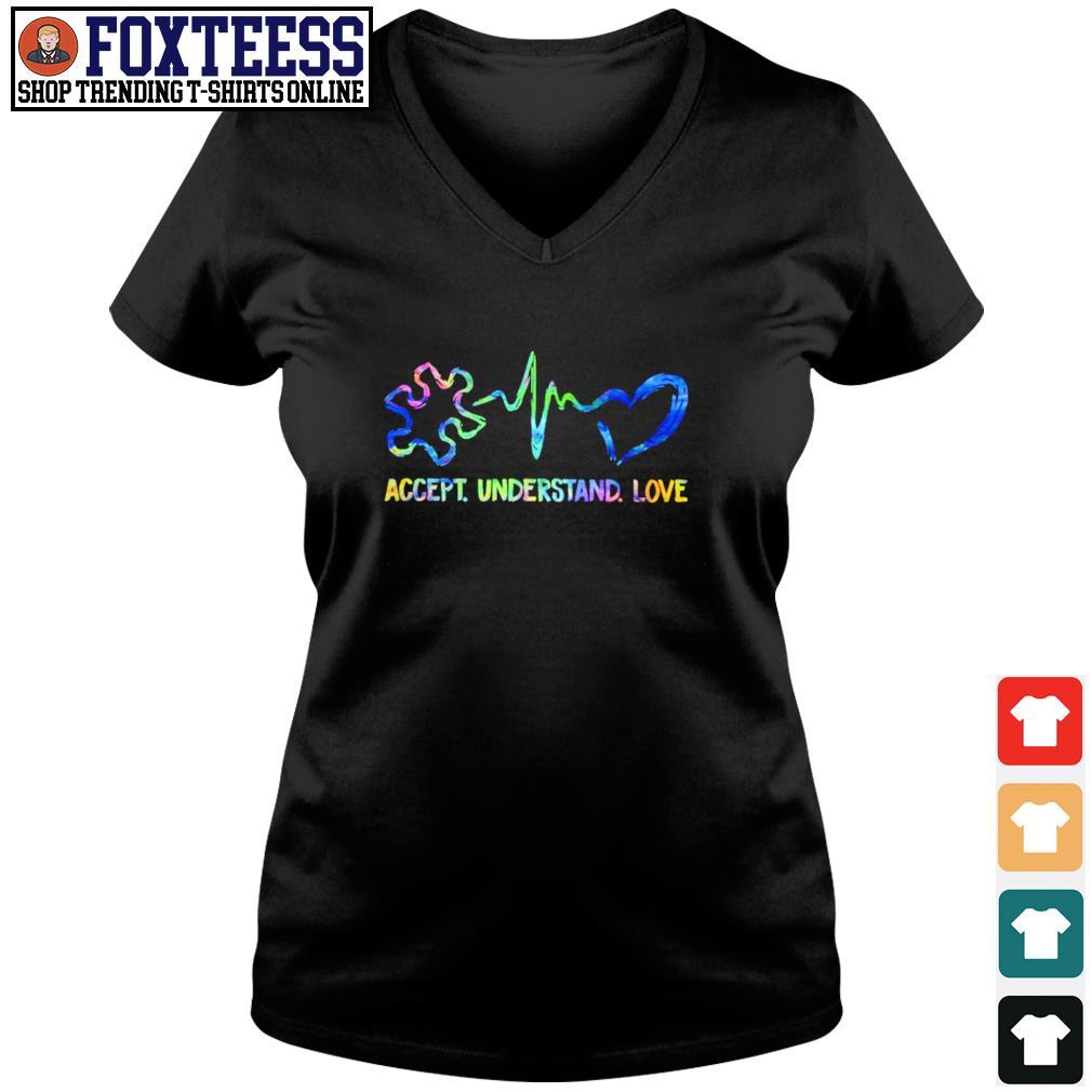 Accept understand love autism s v-neck t-shirt