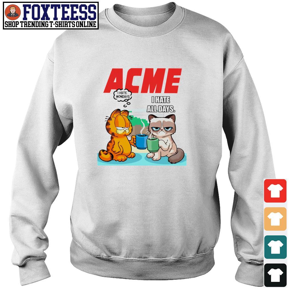 Acme garfield I hate monday grumpy cat I hate all days s sweater