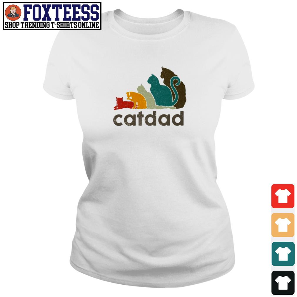 Adidas cat dad vintage s ladies-tee
