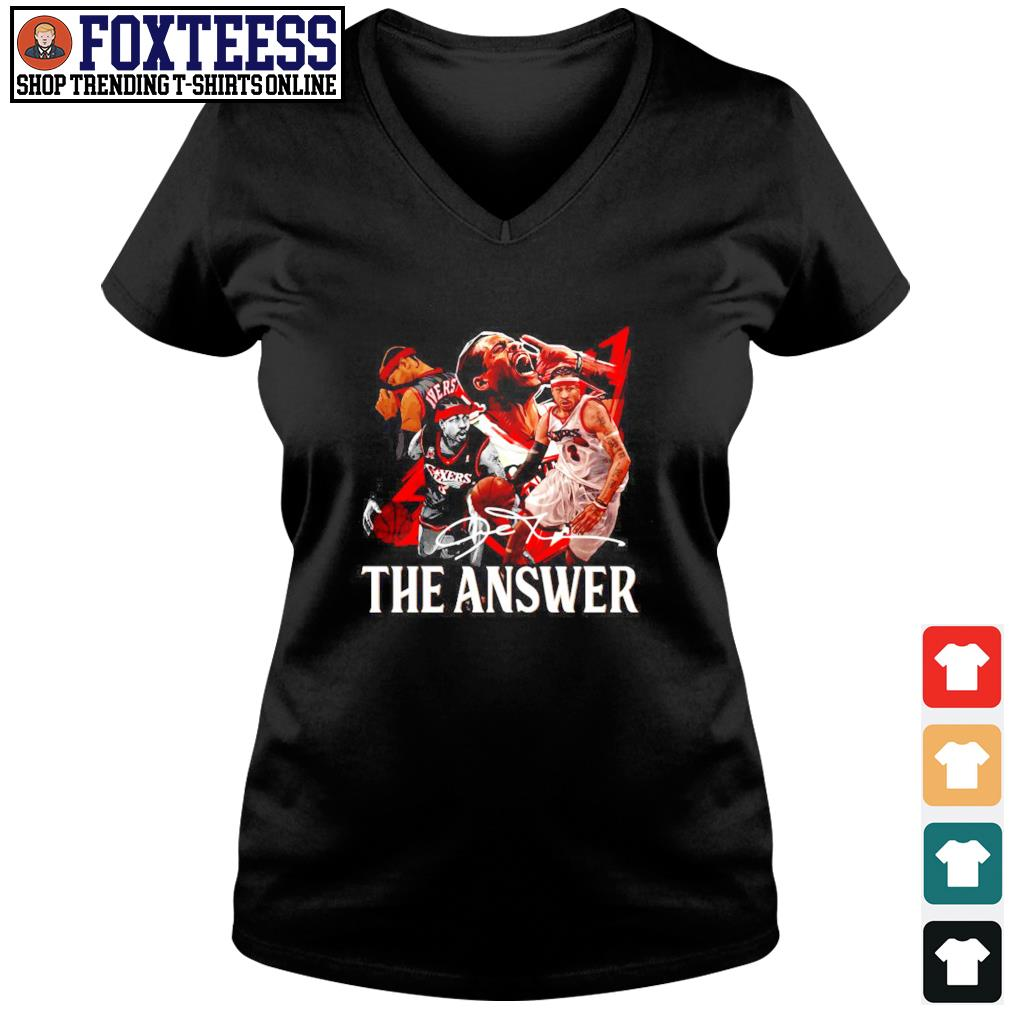 Angeles Lakers the answer signature s v-neck t-shirt