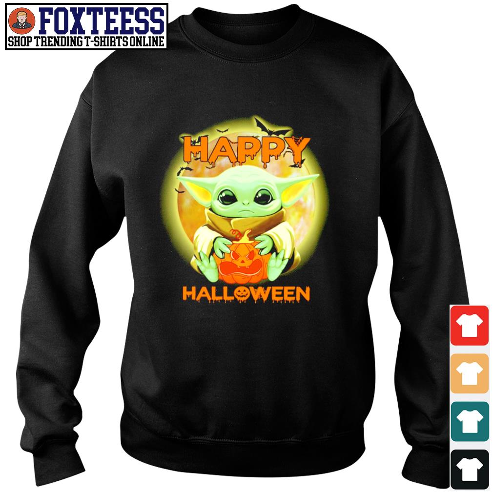Baby yoda happy halloween s sweater