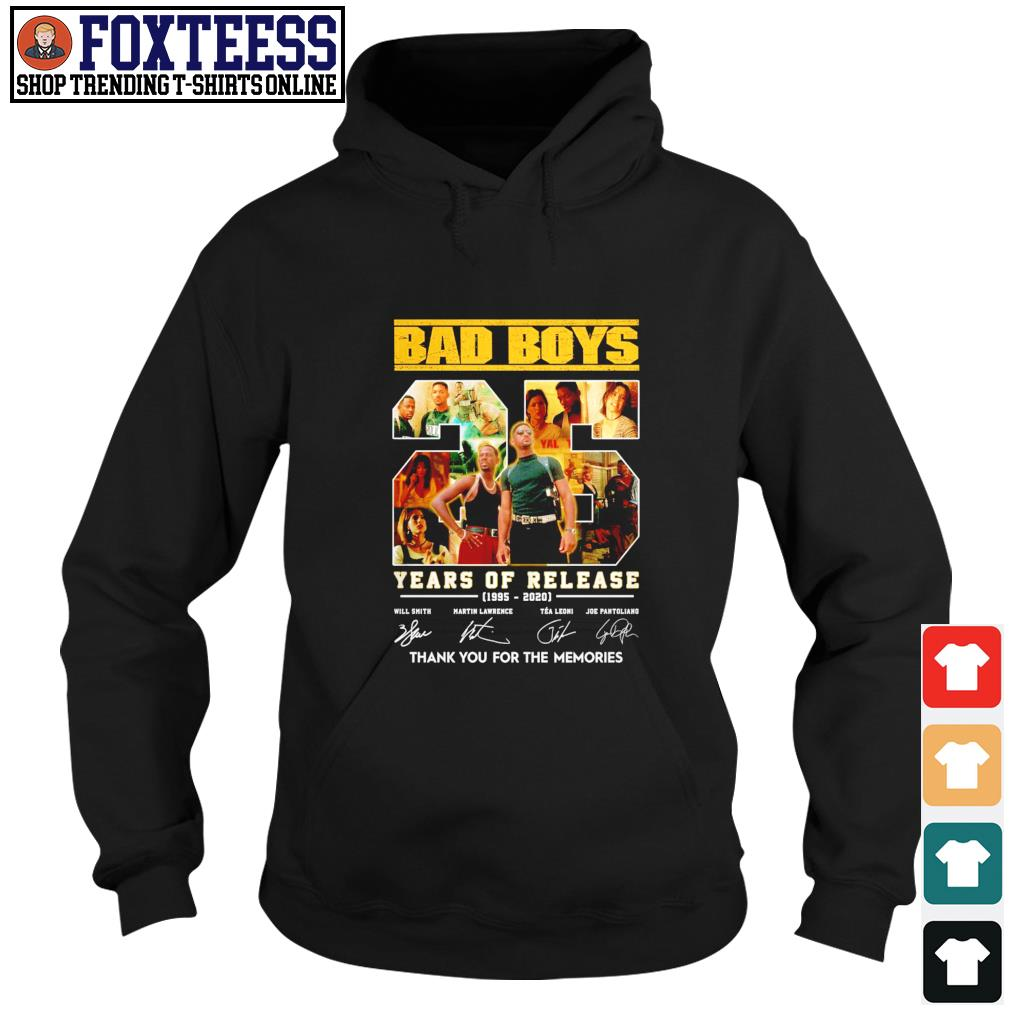 Bad boys 25 year of release thank you for the memories signature s hoodie