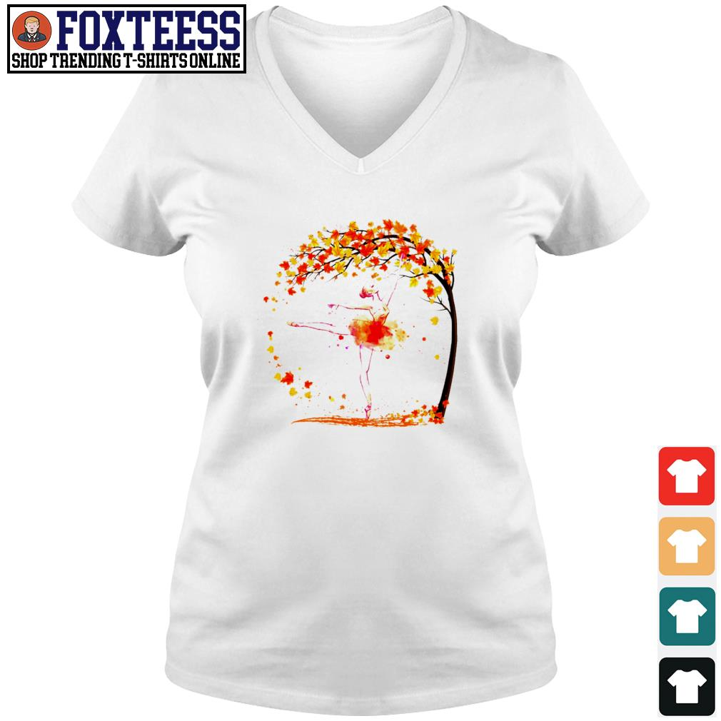 Ballet in autumn s v-neck t-shirt