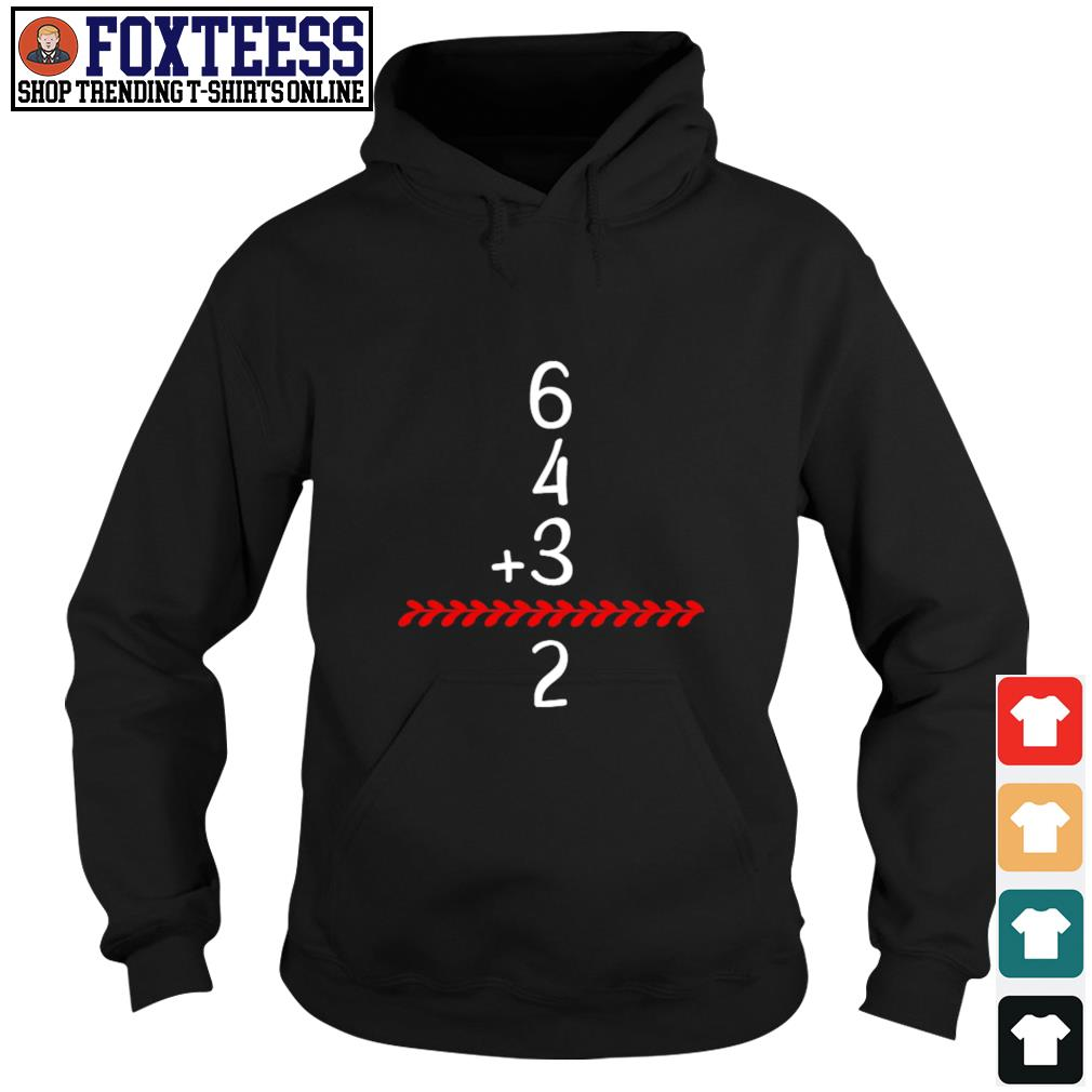 Baseball inspired 6 4 3 double play turn two s hoodie