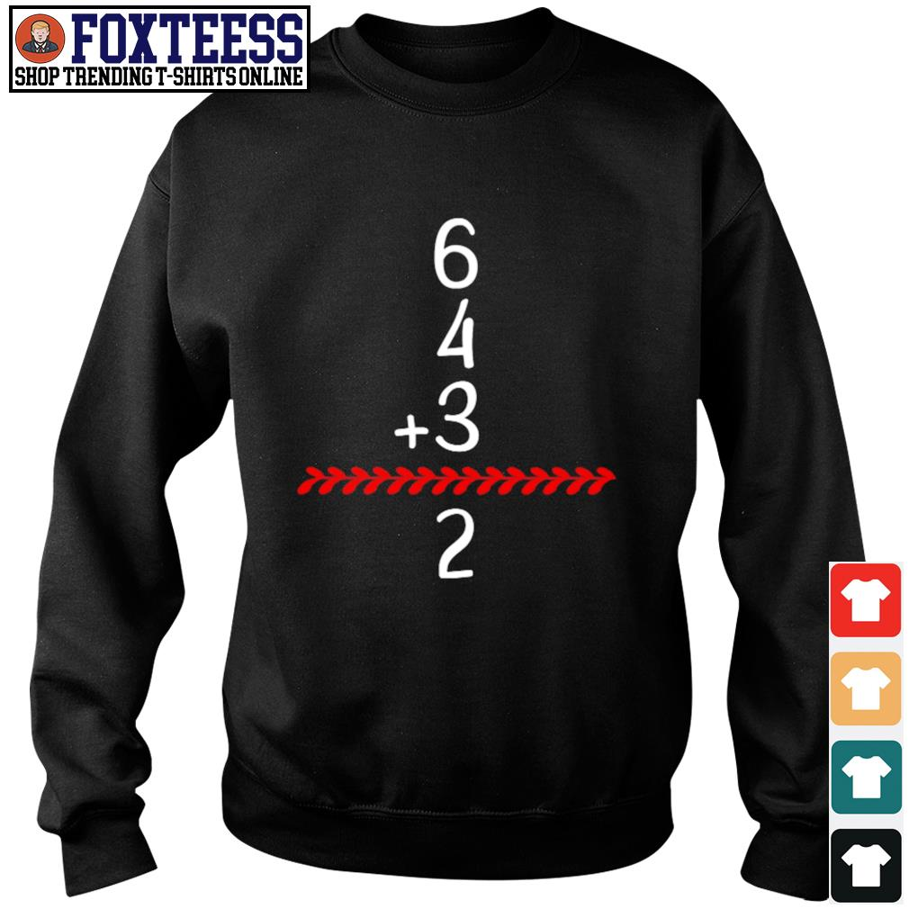 Baseball inspired 6 4 3 double play turn two s sweater