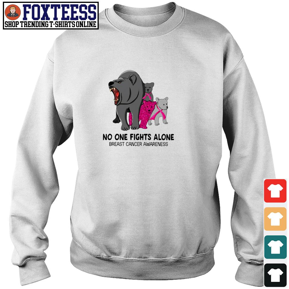 Bear no one fights alone breast cancer awareness s sweater