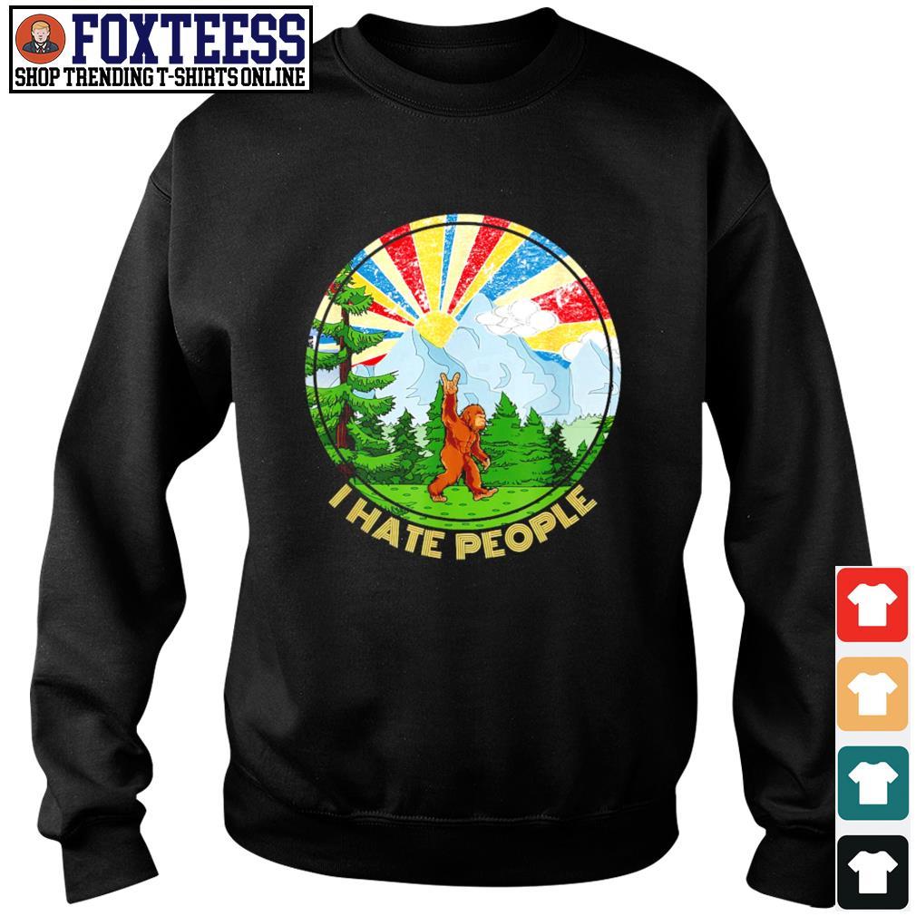 Bigfoot mount sunshine I hate people s sweater