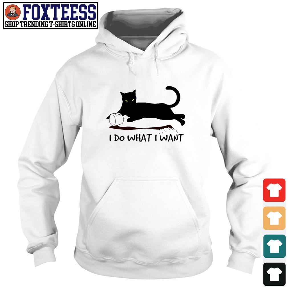 Black cat coffee I do what I want s hoodie
