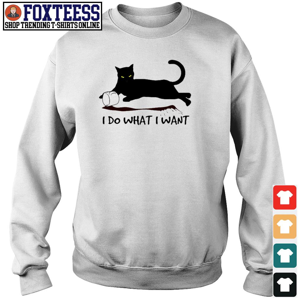 Black cat coffee I do what I want s sweater
