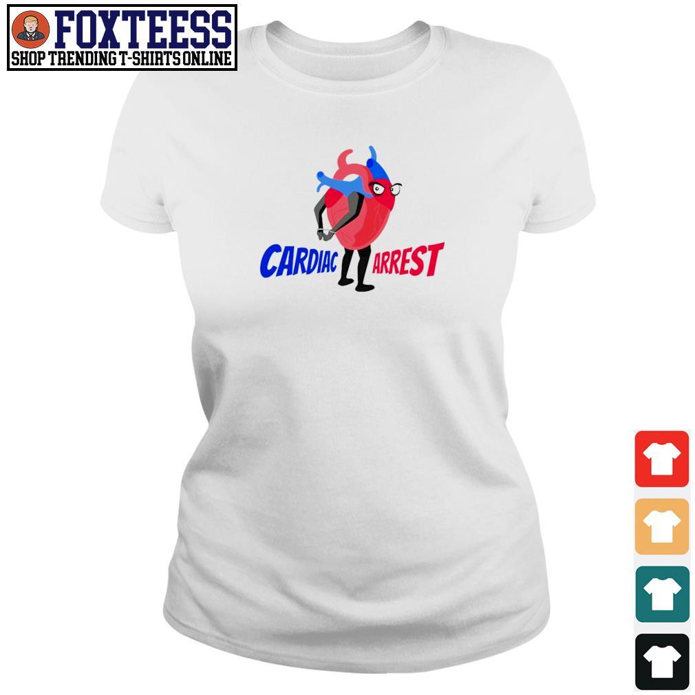 Cardiac arrest heart s ladies-tee