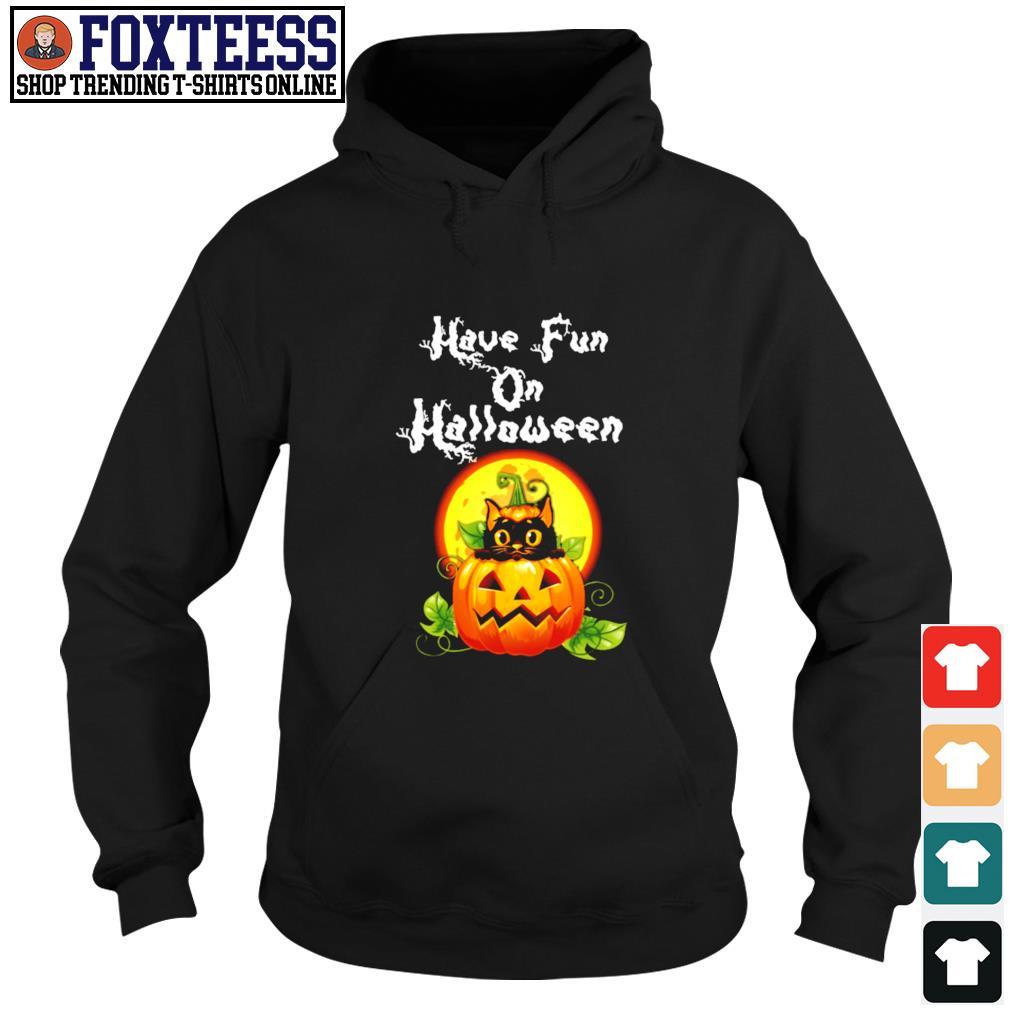 Cat have fun on halloween pumpkin s hoodie