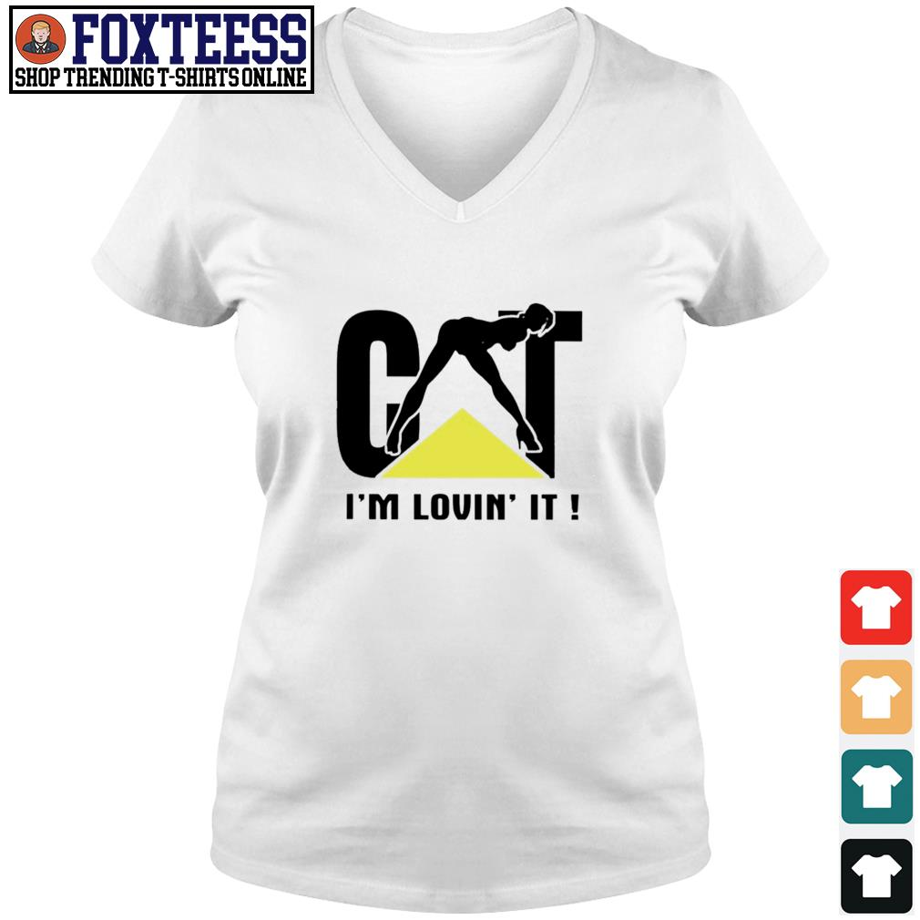 Cat I'm loving it s v-neck t-shirt