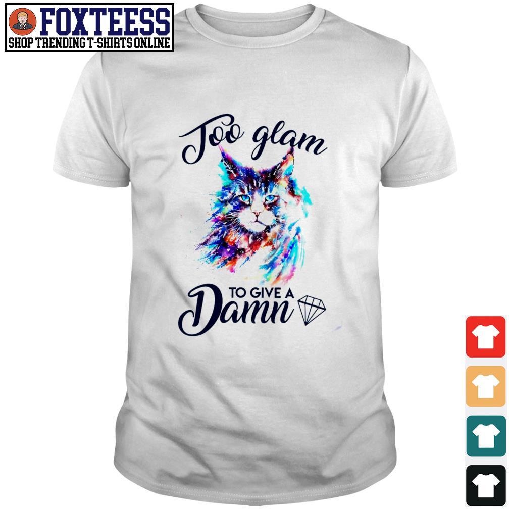 Cat job glam to give a damn shirt
