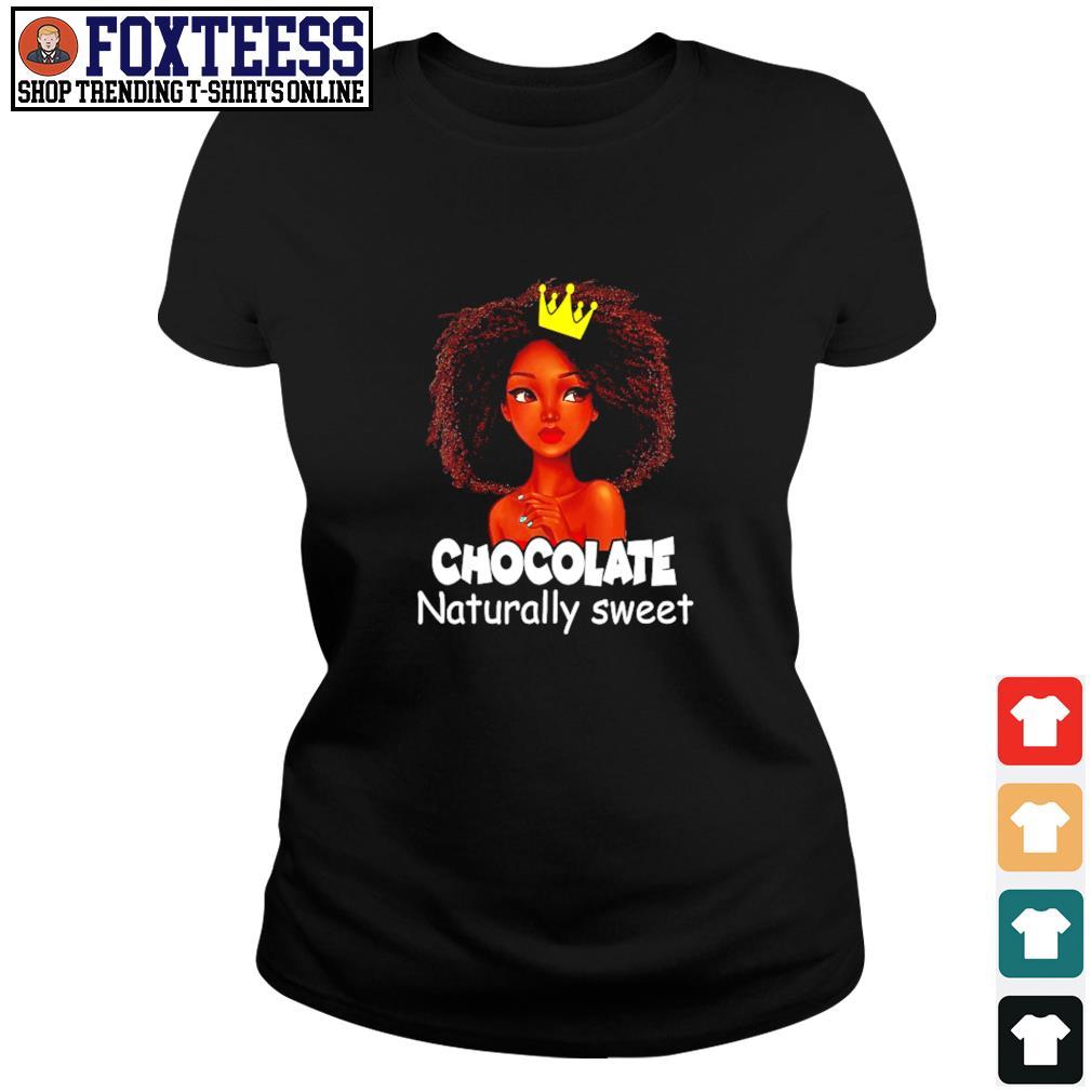 Chocolate naturally sweet black live matter s ladies-tee