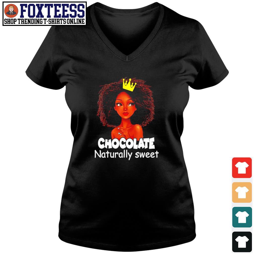 Chocolate naturally sweet black live matter s v-neck t-shirt