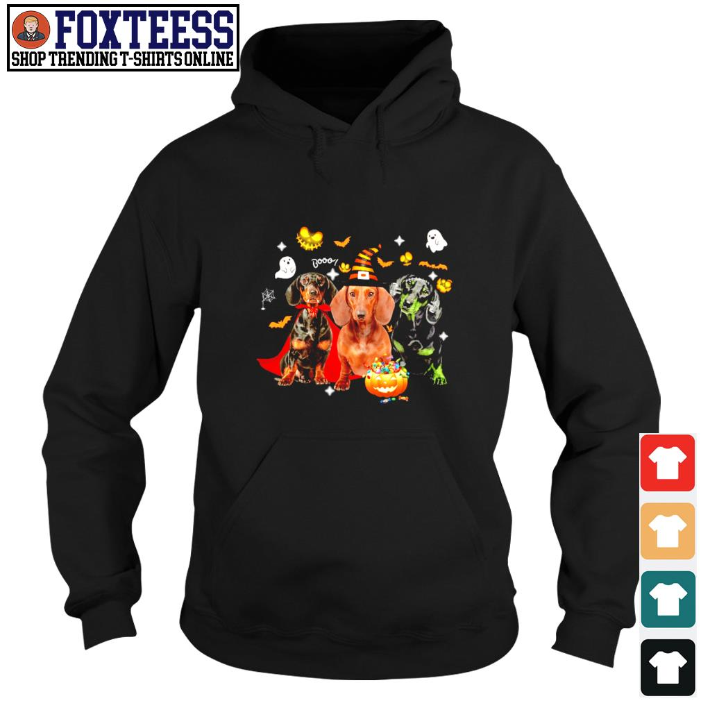 Dachshund ghost pumpkin halloween s hoodie