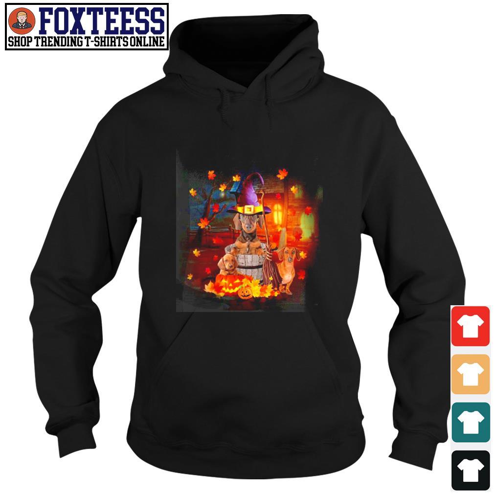 Dachshund house witch pumpkin halloween s hoodie