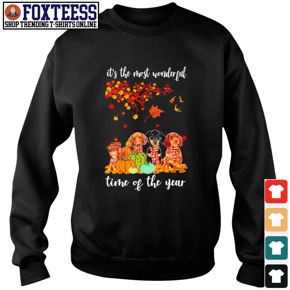 Dachshund it's the most wonderful time of the year s sweater
