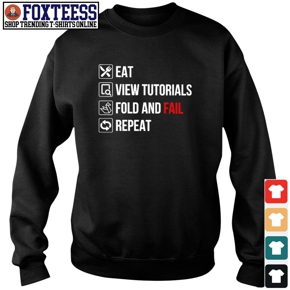 Eat view tutorials fold and fail repeat s sweater