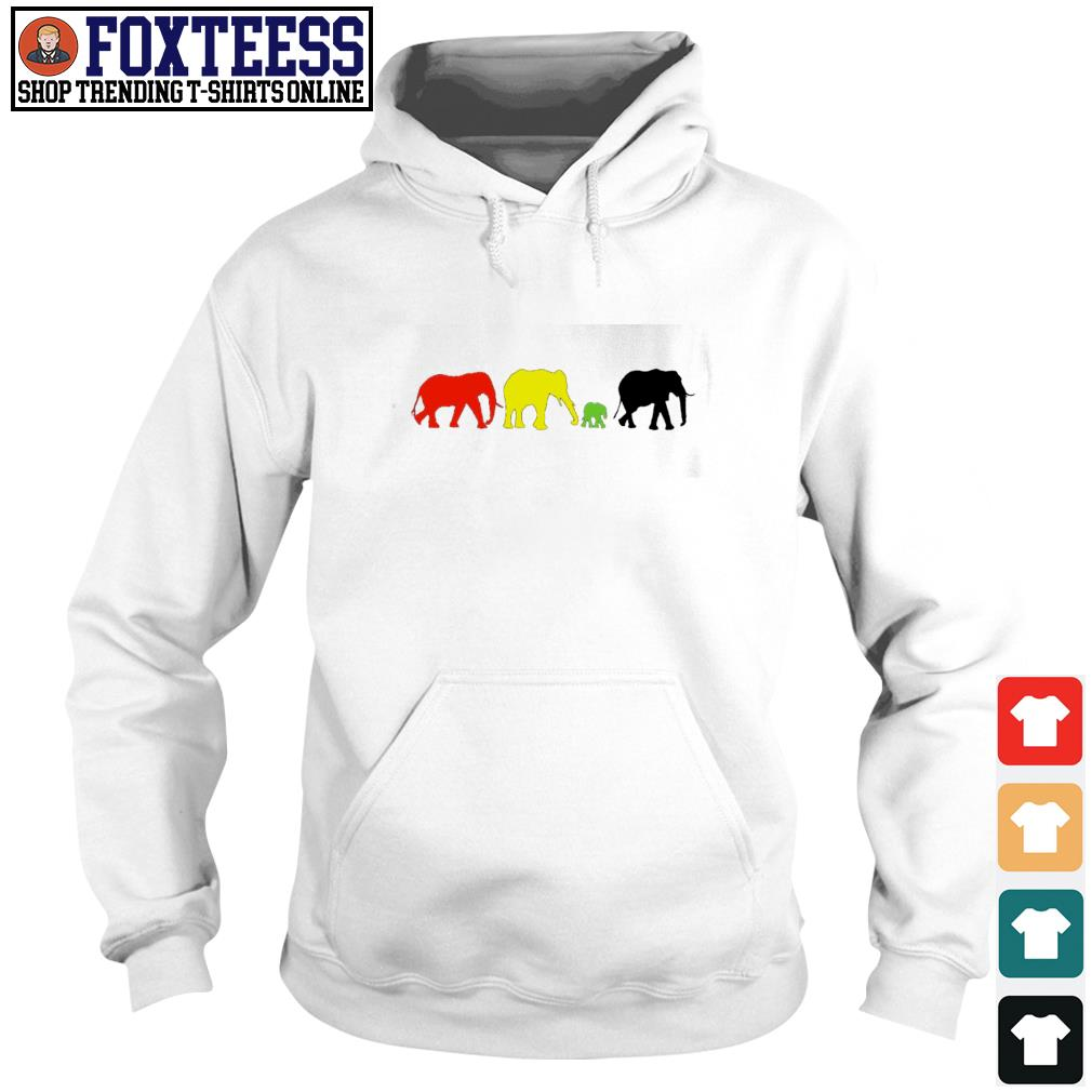 Elephant red yellow green black live matter s hoodie