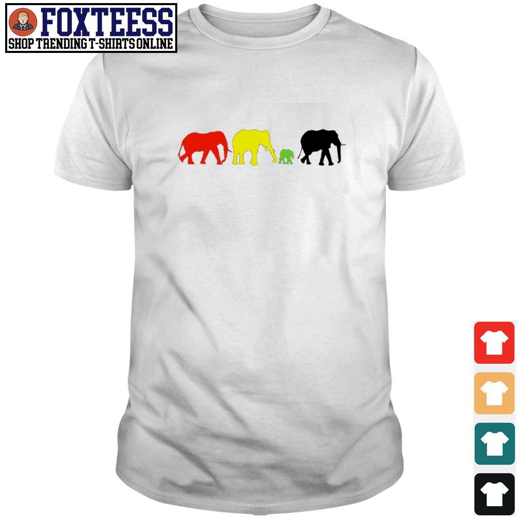 Elephant red yellow green black live matter shirt