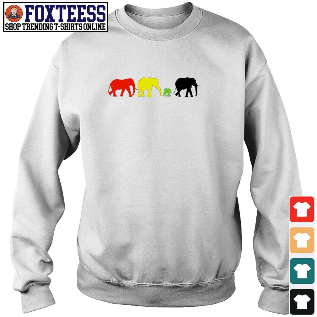Elephant red yellow green black live matter s sweater