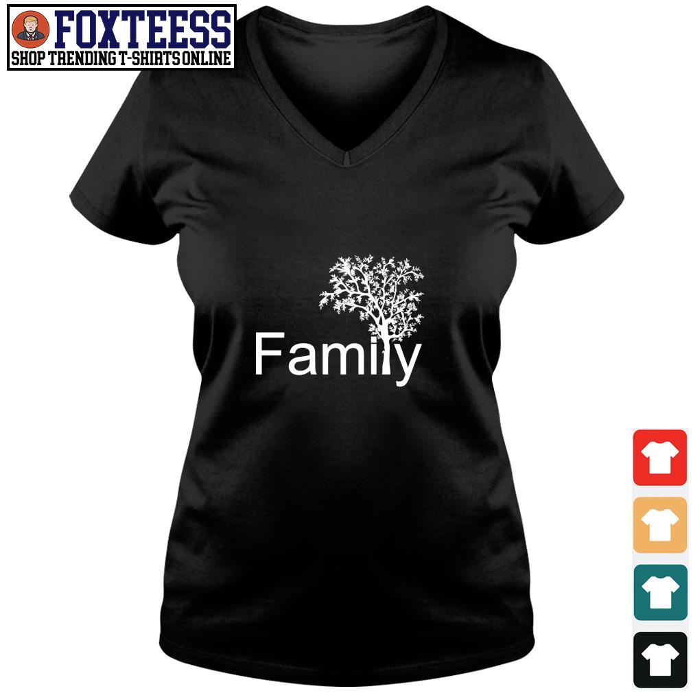 Family tree genealogy s v-neck t-shirt
