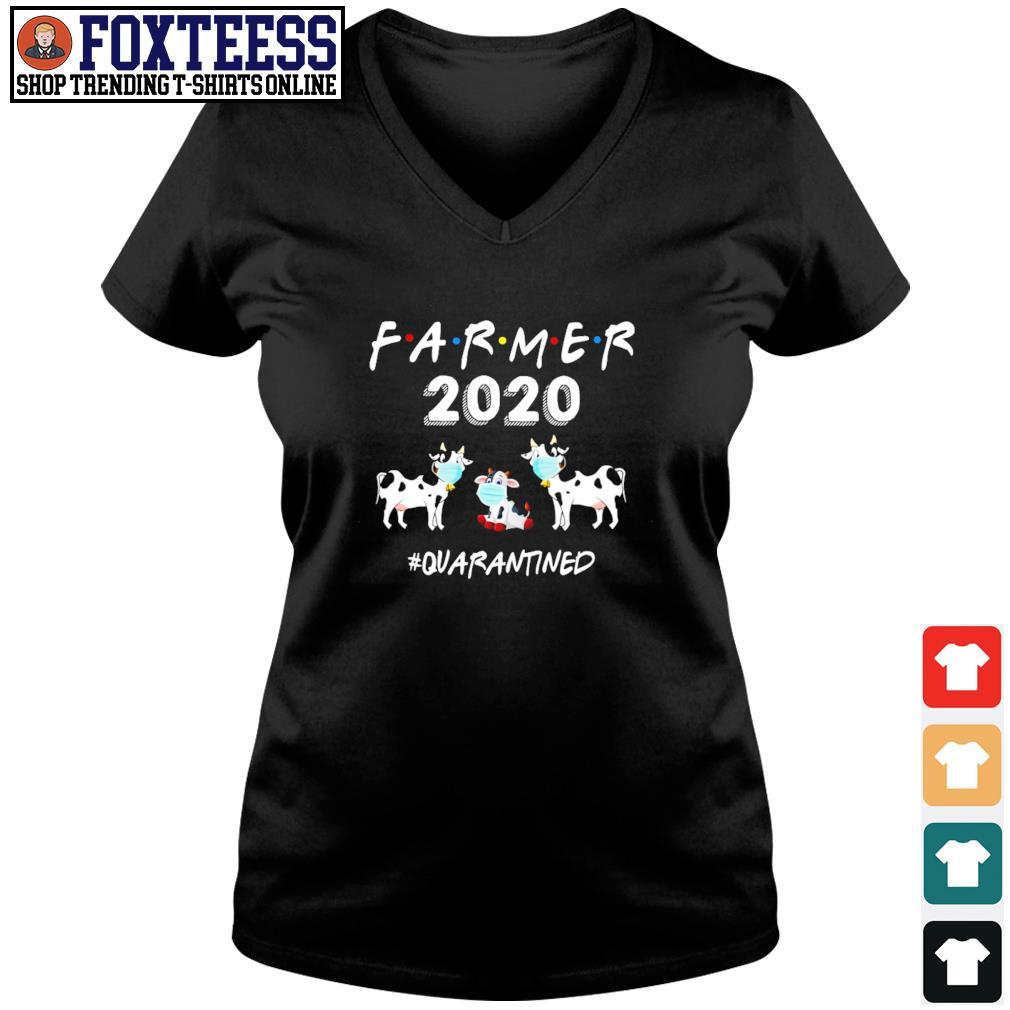 Farmer 2020 mask #quarantined s v-neck t-shirt