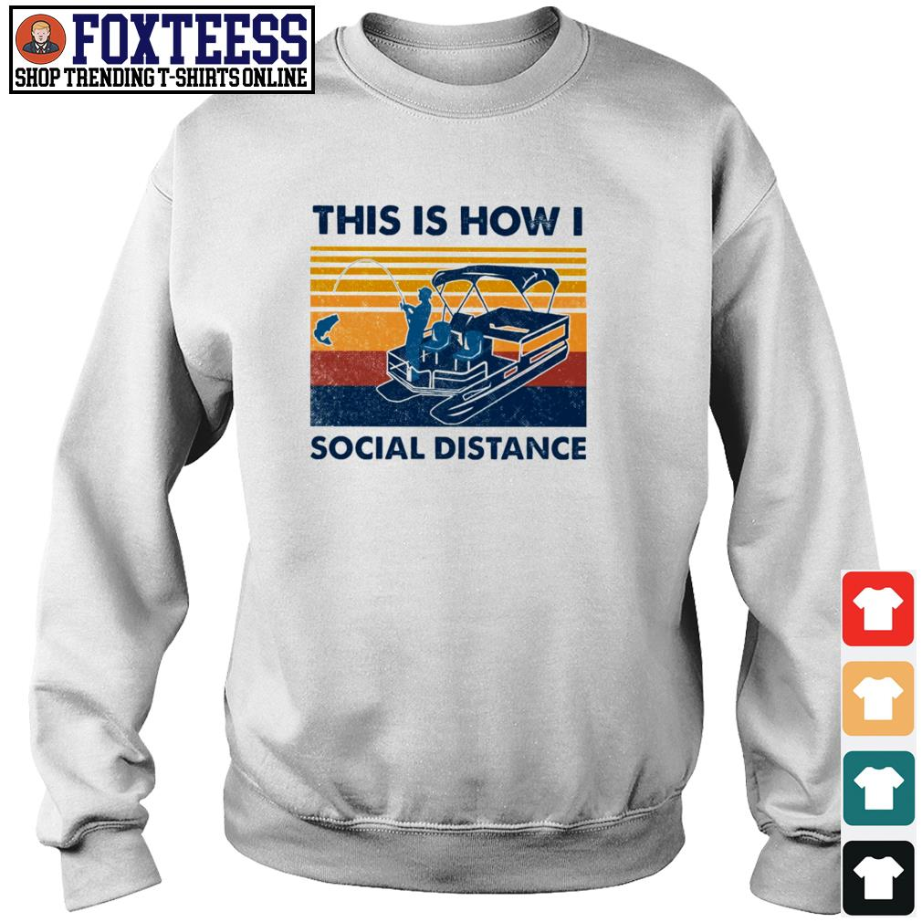 Fishing this is how I social distance vintage s sweater