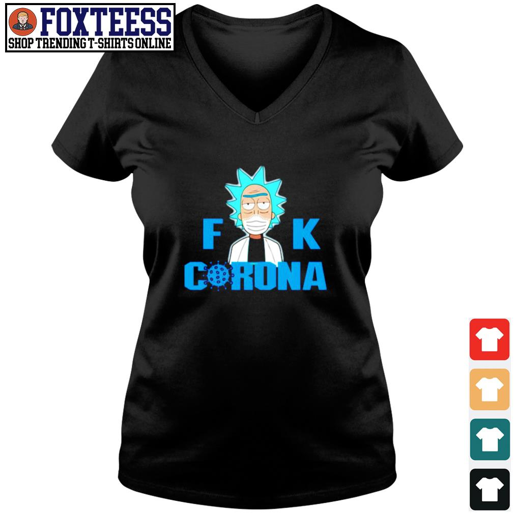 Fuck corona rick sanchez s v-neck t-shirt