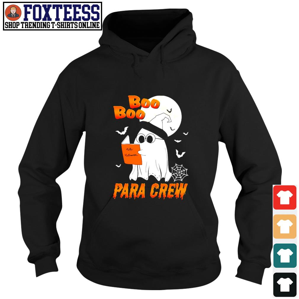 Ghost boo para crew para book halloween s hoodie