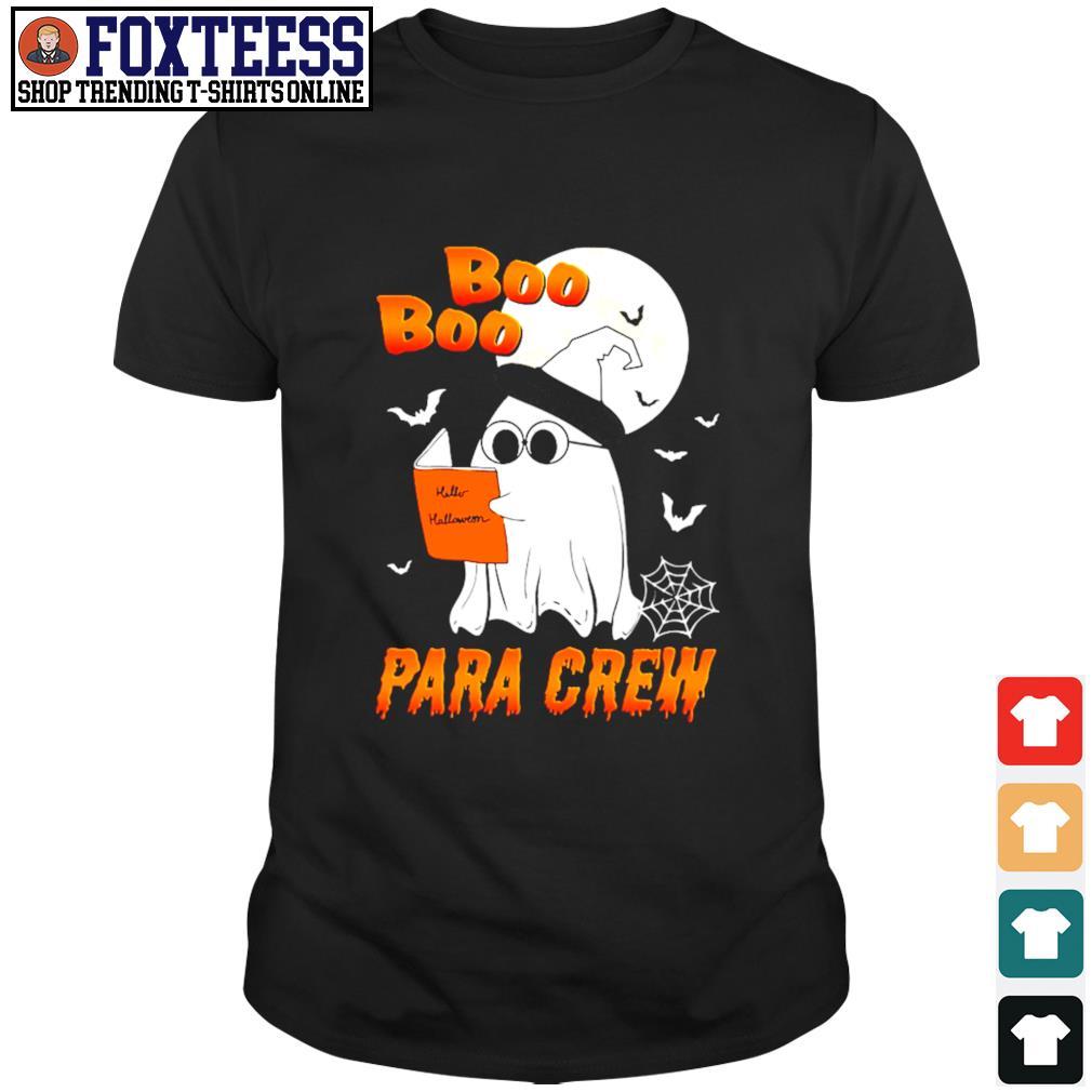 Ghost boo para crew para book halloween shirt