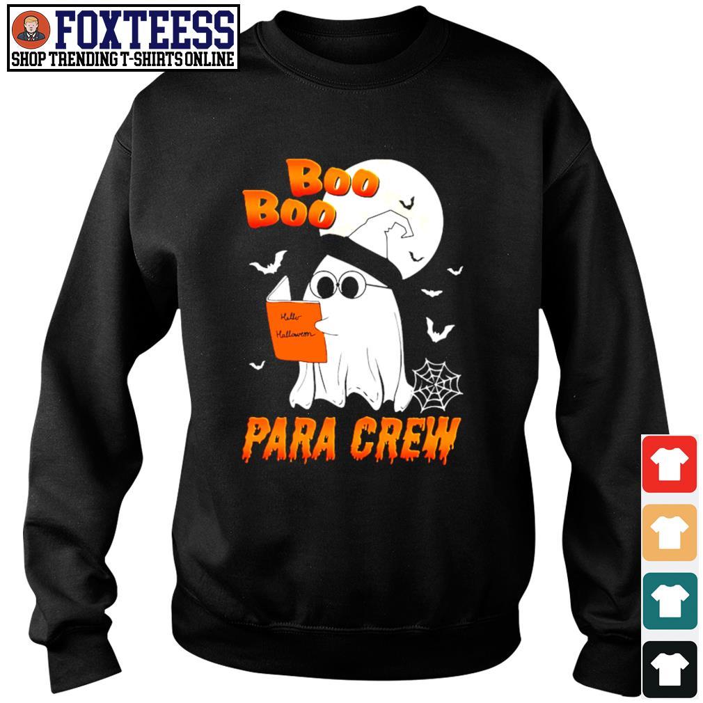 Ghost boo para crew para book halloween s sweater