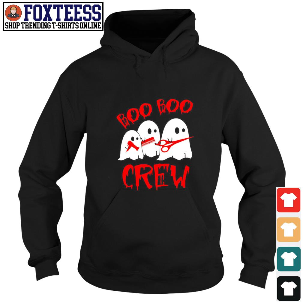 Ghost hairdresser boo boo crew s hoodie