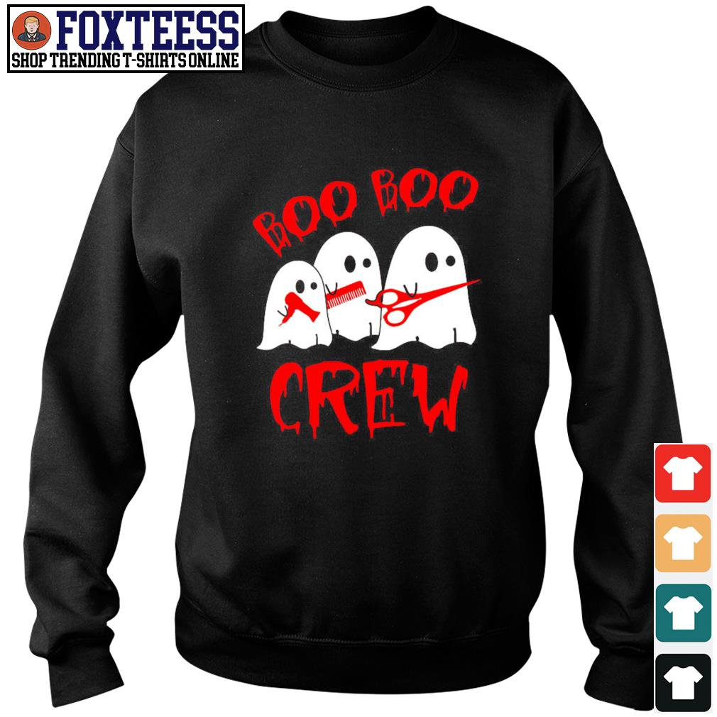 Ghost hairdresser boo boo crew s sweater