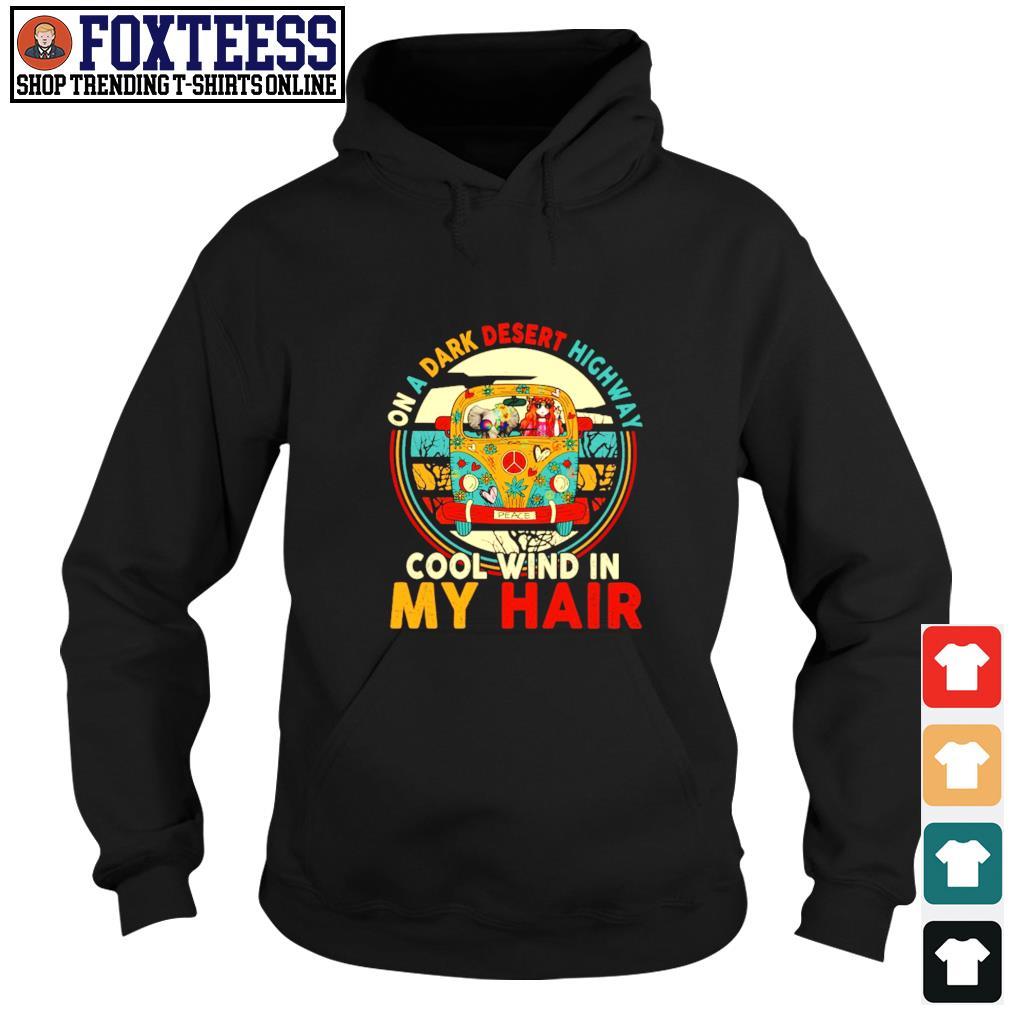 Girl elephant peace on a dark desert highway cool wind in my hair s hoodie