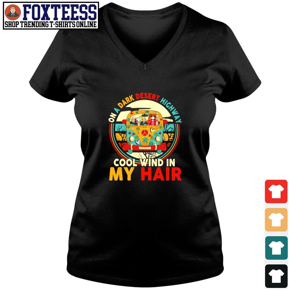 Girl elephant peace on a dark desert highway cool wind in my hair s v-neck t-shirt