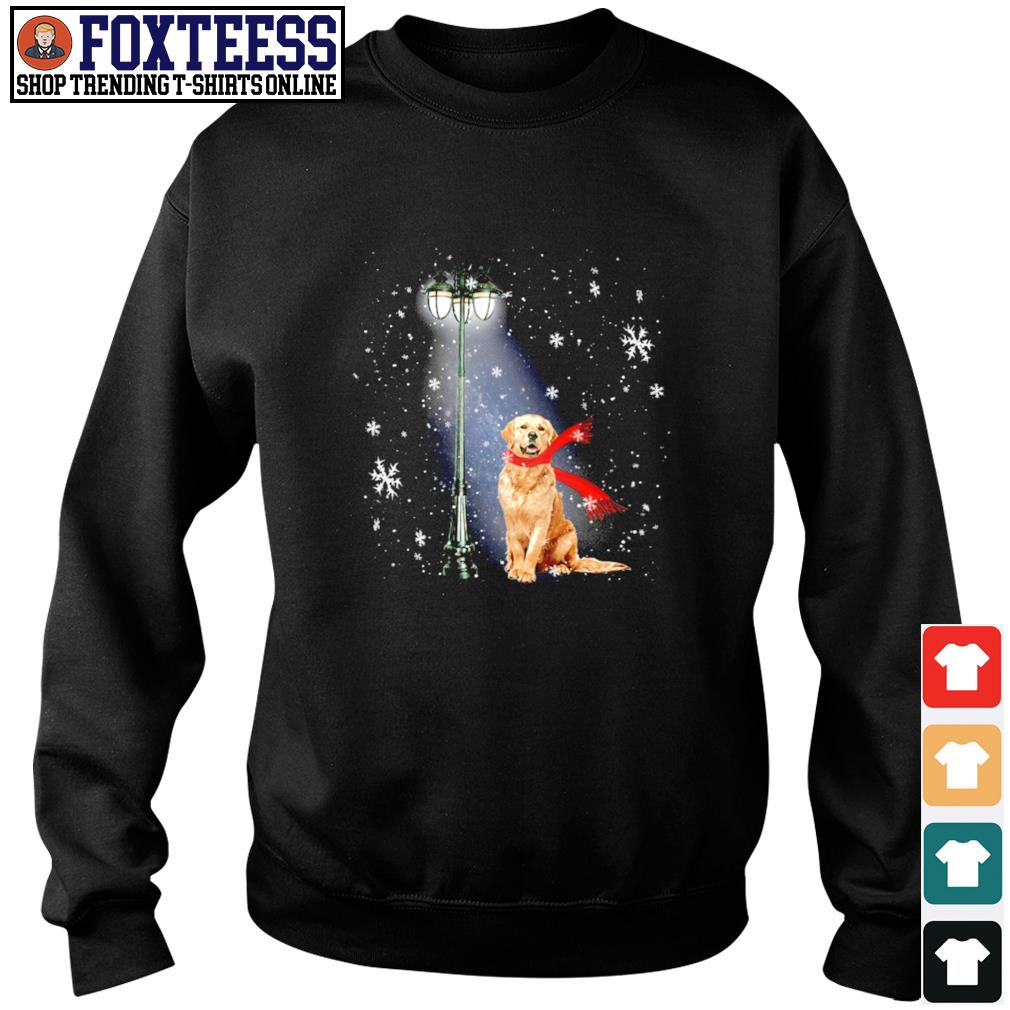 Golden Retriever for the santa claus christmas s sweater