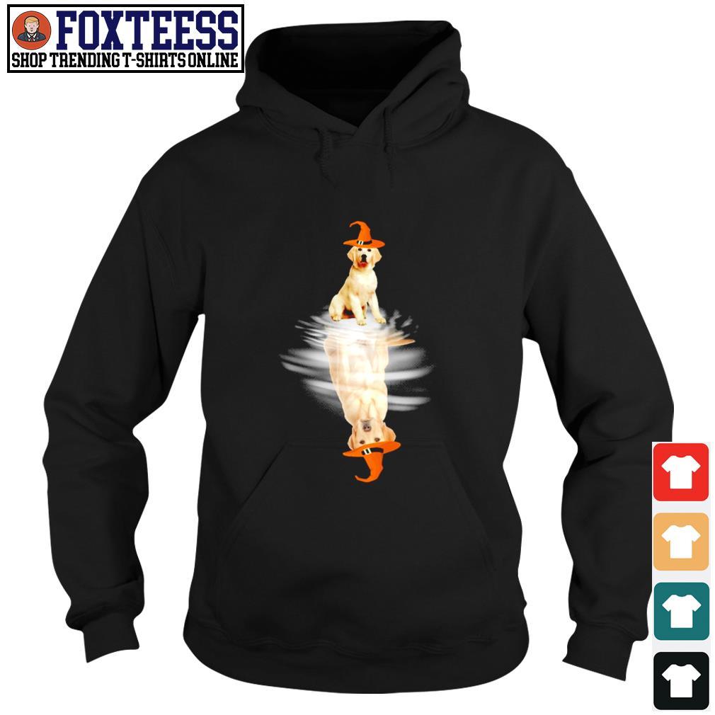 Golden retriever water reflection halloween s hoodie