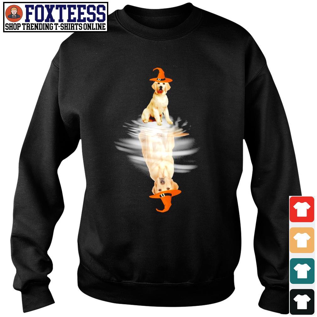Golden retriever water reflection halloween s sweater